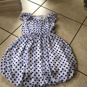 Blue and white poka dot dress!